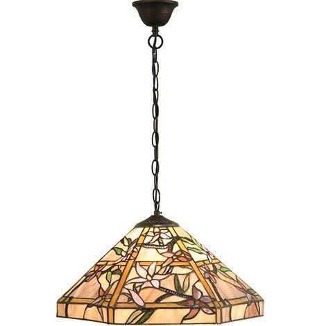 Clematis Tiffany Style Medium Ceiling 1 Light Pendant 60W