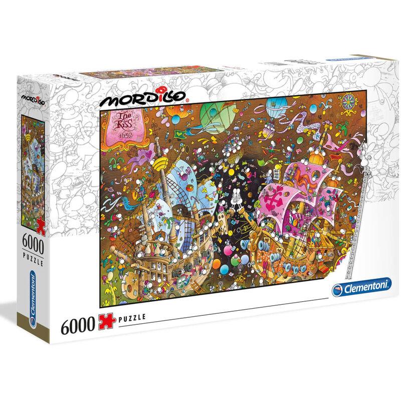 Image of Puzzle Mordillo The Kiss 6000 pcs - Multicolour - Clementoni