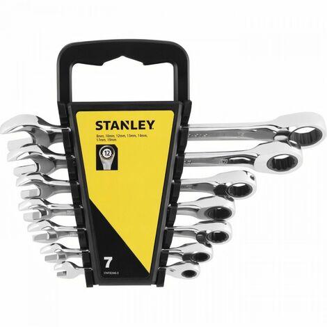 Clés à cliquet - Mixtes - 7 Pièces - Stanley