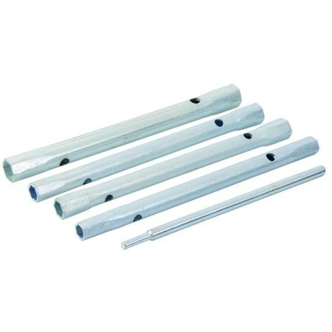 Clés à tube pour mitigeurs, 5 pcs 8/9, 9/11, 10/11 et 12/13 mm