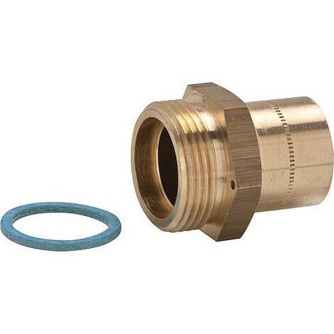 Clesse:raccord gaznaturel/propane reseau raccord droit a braser sur tube cuivre Cal.20entree male 6/20Sortie:22x1