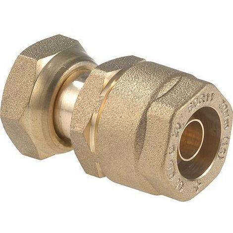Clesse:raccord gaznaturel/propane reseau raccord droit JSC 2 pieces Cal.15 entreePEHD 20x3 Sortie ecrou 3/4