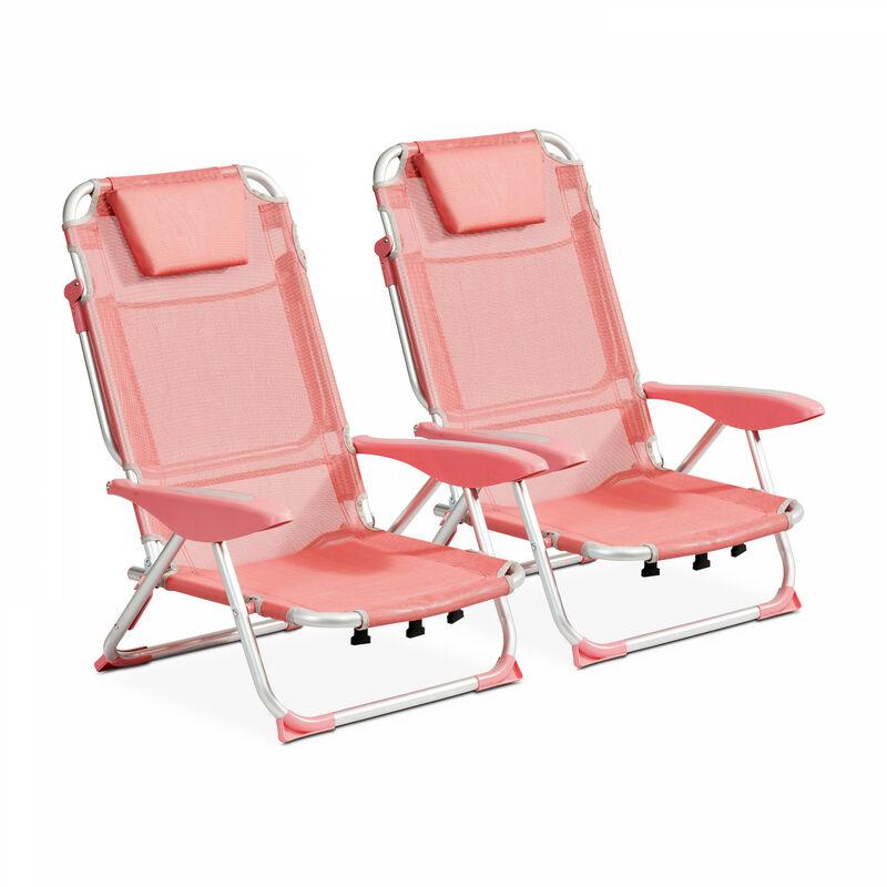 Lot de 2 fauteuils Clic Clac des plages Clic Clac des Plages - Melba - Orange