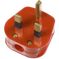 Click 13A Fused Non-Standard Plug - Red (PA380RD)