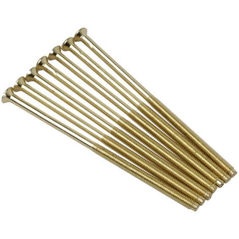 Click Brass Socket Screws M3.5mm 50mm Long with Raised Heads (Pack of 100)