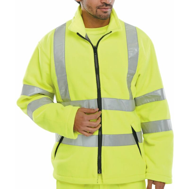 Image of Beeswift Click Original Workwear Carsy Hi-vis Yellow Fleece (L)