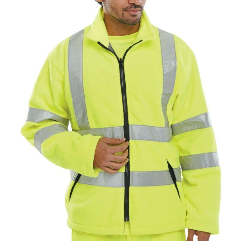 Image of Beeswift Click Original Workwear Carsy Hi-vis Yellow Fleece (M)