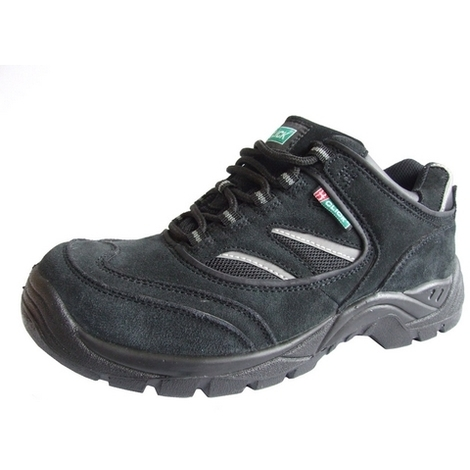 Click CDDTB05 Safety Trainer Shoes With Steel Toecap and Midsole Shock Absorbing Heel Black Size 5