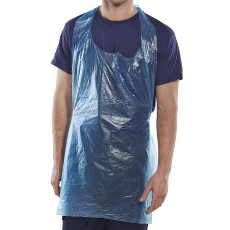 """Click DAB42DP Disposable Apron Pack Blue 42"""" x 27"""" Pack of 1000"""