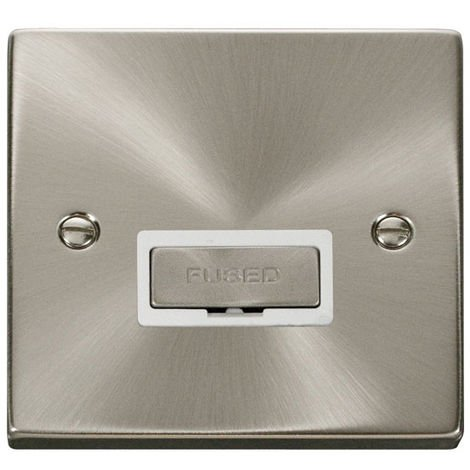 Click Deco 13A Ingot FCU with White Insert Front (VPSC750WH)