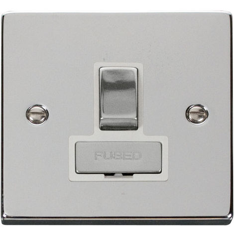 Click Deco 13A Switched Ingot FCU with White Insert Front (VPCH751WH)