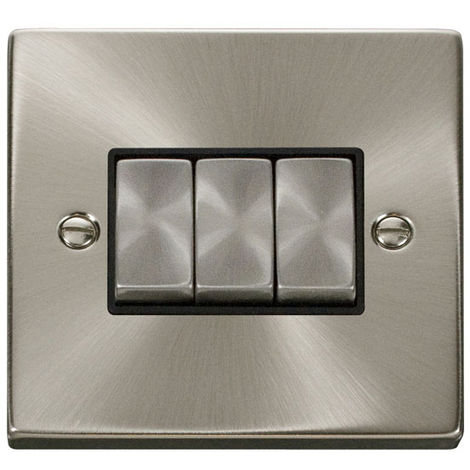 Click Deco 3G 2 Way 10AX Ingot Switch with Black Insert Front (VPSC413BK)