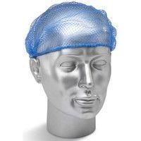 Click DHBDET Disposable Hair Net Blue Metal Detectable Pack of 100
