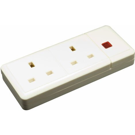 Click ES002 2 Gang 13A Trailing Socket with Neon