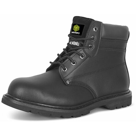 """main image of """"Click GWBMSBL12 Goodyear Safety Welt Boot With Steel Toecap and Midsole Black Size 12"""""""