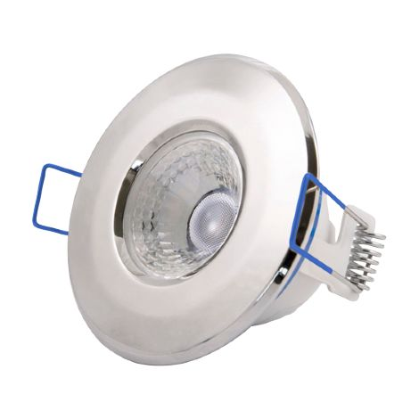 Click Inceptor Nano 5W Polished Chrome IP65 LED Fixed Dimmable Downlight - Cool White