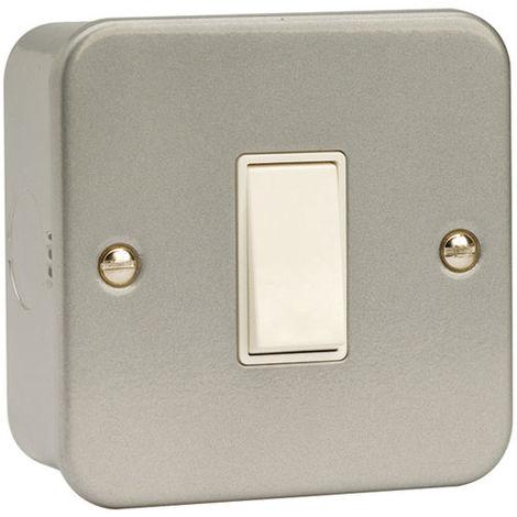 Click Metalclad 1G 2 Way Light 10AX Switch (CL011)