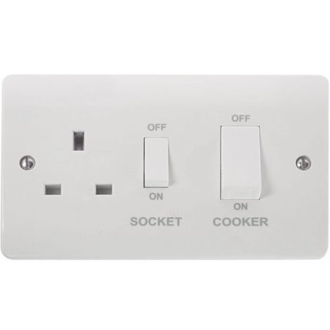Click Mode Cooker Outlet With Power Socket And White Rocker (CMA504)