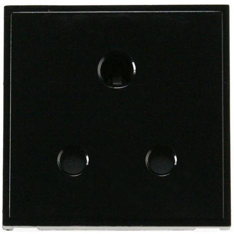 Click New Media 5A Round Pin New Media Socket (MM038BK)