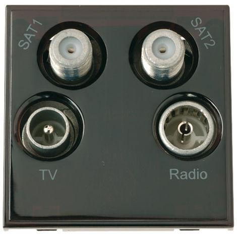 Click New Media Quad TV, Radio, Sat 1 And Sat 2 (MM440BK)