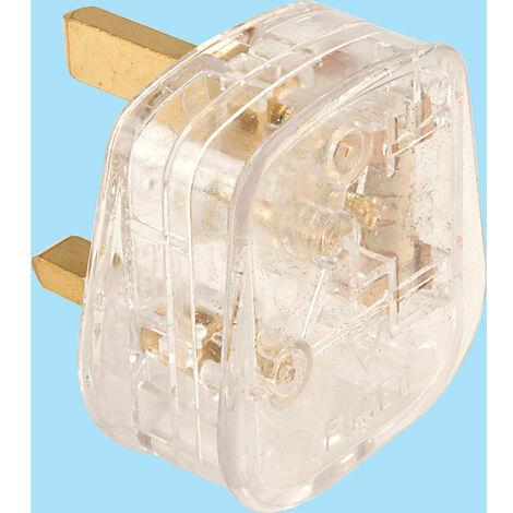 Click PA340TR 13A Transparent Plug Clear