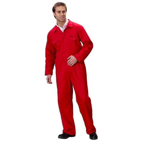 """Click PCBSRE54 Polycotton Boiler Suit Red 54"""""""
