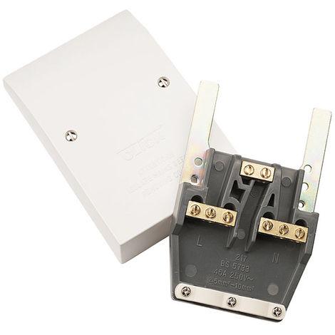 Click Polar 45A Easyfit Dual Appliance Outlet Plate (PRW217)