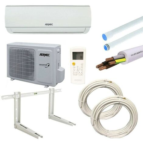 Climatiseur Aermec SGE 3,5KW 12000BTU R32 A++/A+ avec kit d'installation