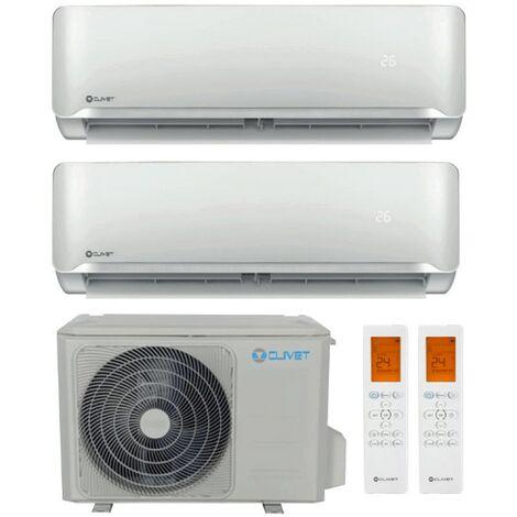 Climatiseur Double Split Clivet 9000+12000BTU Onduleur R32++