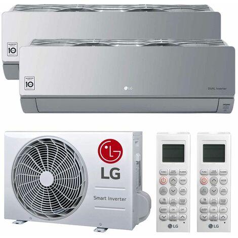 Climatiseur Double Split LG ARTCOOL MIRROR SILVER 12000+12000BTU WIFI R32++/A+
