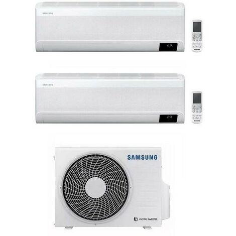 Climatiseur Dualsplit Samsung Windfree 12000 + 12000 Btu avec gaz R32 Wifi   Blanc - Standard