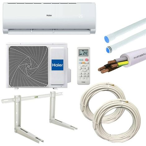 Climatiseur Haier Geos + 3,5KW 12000Btu A++/A+ R32 WIFI avec kit d'installation