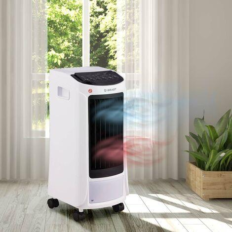 Climatiseur mobile 25m² 5en1 chauffage 1800 W, 3 étapes de ventilation, refroidissement, déshumidification/ purification télécommande de Brast