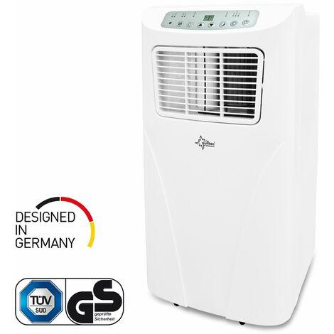 Climatiseur Mobile FREEZE 7.000+ (7.000 BTU) 2,1 kW ~60 M³ / 25 m² Climatiseur Portable [Classe énergétique A] SUNTEC