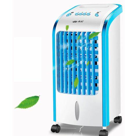 Climatiseur mobile Portable, Refroidisseur D'air Portable Ventilateur de Climatisation Personnel Air Humidificateur Purificateur pour Bureau Chambre 3 Vitesses,Bleu