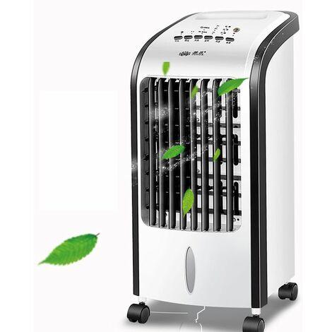 Climatiseur mobile Portable, Refroidisseur D'air Portable Ventilateur de Climatisation Personnel Air Humidificateur Purificateur pour Bureau Chambre 3 Vitesses,Noir