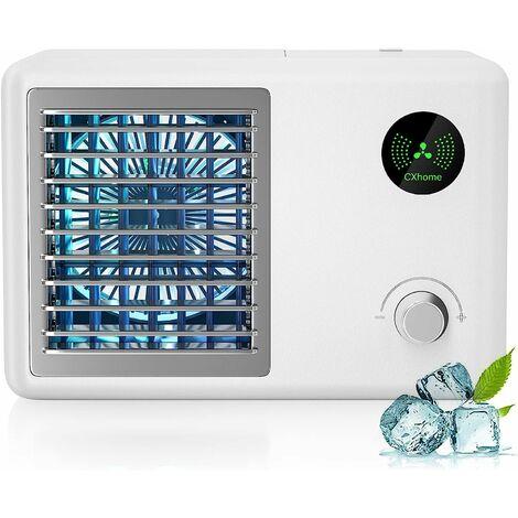"""main image of """"Climatiseur Mobile, Refroidisseur D'air Portable, Ventilateur de Climatisation Mobile, Air Humidificateur, avec Batterie 2000MA Rechargeable Réservoir d'eau 400ML, 3 Modes,3 Vitesses"""""""