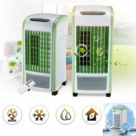 Climatiseur Mobile Télécommandé, Refroidisseur d'air Portable avec humidificateur à Ventilateur Assainisseur d'air, Vert