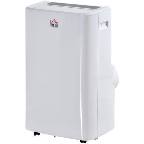 Climatiseur portable 12.000 BTU/h 1340 W - ventilateur, déshumidificateur - réfrigérant naturel R290 - télécommande - débit d'air 400 m³/h - blanc