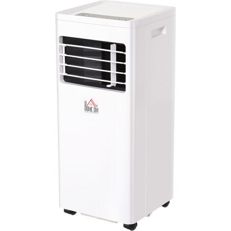 Climatiseur portable 7.000 BTU/h 765 W - ventilateur, déshumidificateur - réfrigérant naturel R290 - télécommande - débit d'air 360 m³/h - blanc
