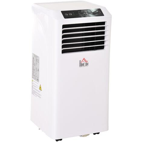 Climatiseur portable 9.000 BTU/h - ventilateur, déshumidificateur - réfrigérant naturel R290 - télécommande - débit d'air 360 m³/h - blanc