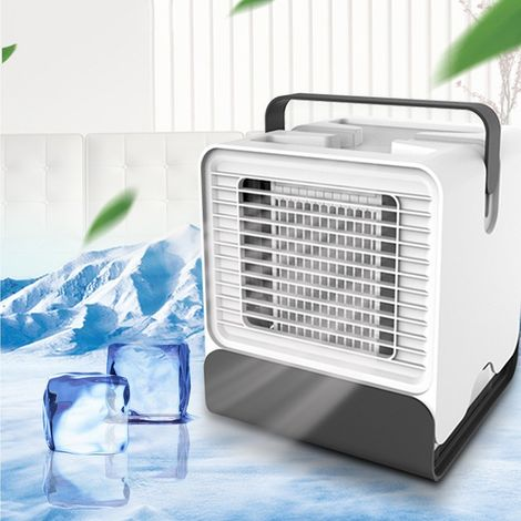 Climatiseur portable à ventilateur à ions négatifs avec lumière LED