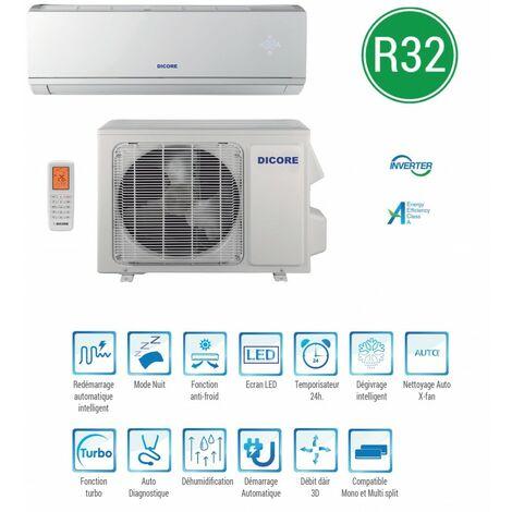 Climatiseur réversible R32 mono-split inverter 2500W