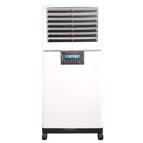 Climatizador Evaporativo MCONFORT E3500 con 100 W Potencia, Cobert 50 m², MAX Caudal 3500 m³/h 3 Veloci. Mando a Distancia. Temp