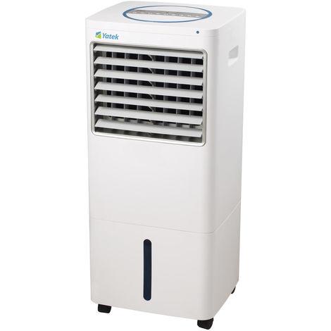 Climatizador evaporativo Yatek YK-16A, con 220 W de potencia y 30L de capacidad, ofrece un caudal de aire de 1600m3/h durante más de 30h, con mando a distancia