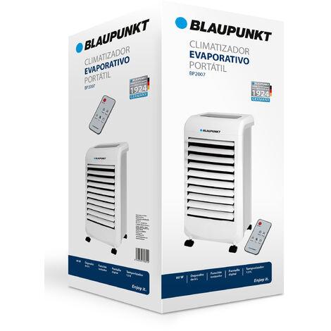 Climatizador Portátil Blaupunkt|80W|Pantalla Digital|Temporizador 12h - Blanco
