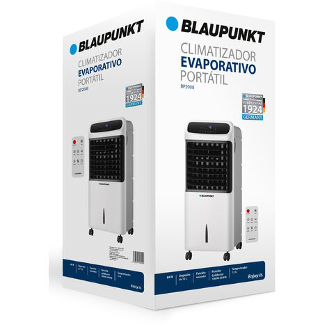 Climatizador portátil Blaupunkt|DeposítoAgua12L+Tmporizador+Calefactor - Blanco