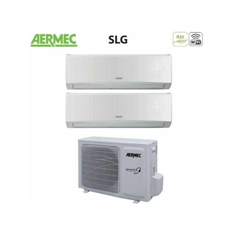 Climatizzatore Condizionatore Dual Split Inverter Serie SLG 9+9 con MLG520 R 32 Wi Fi Optional 9000+9000