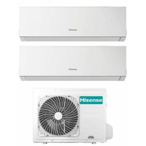 Climatizzatore Condizionatore Hisense Dual Split Inverter serie NEW COMFORT 9+9 con 2AMW35U4RRA R-32 Wi-Fi Optional 9000+9000 - Novità