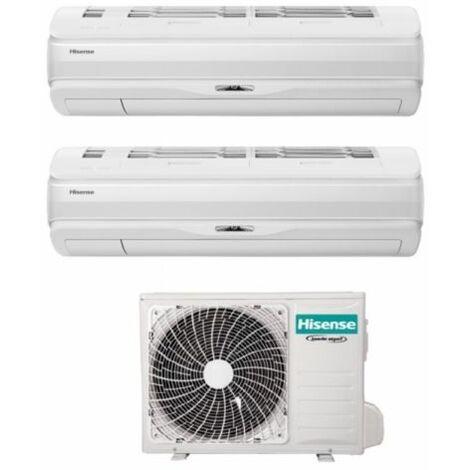 Climatizzatore Condizionatore Hisense Dual Split Inverter serie SILENTIUM PRO 9+12 con 2AMW42U4RRA R-32 Wi-Fi Integrato 9000+12000 - Novità